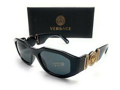Versace VE4361 GB1 87 Black Gold Men's Irregular Sunglasses 53-18