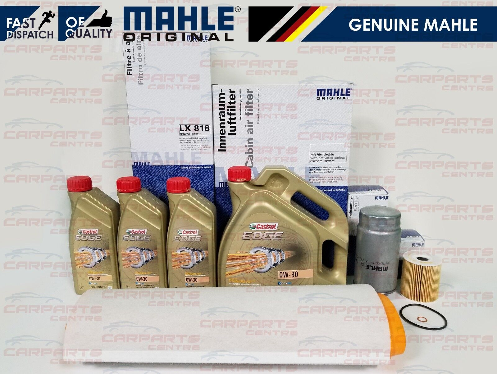 For Bmw X5 E53 30d 30 Diesel Mahle Air Oil Fuel Filter Service Kit Castrol