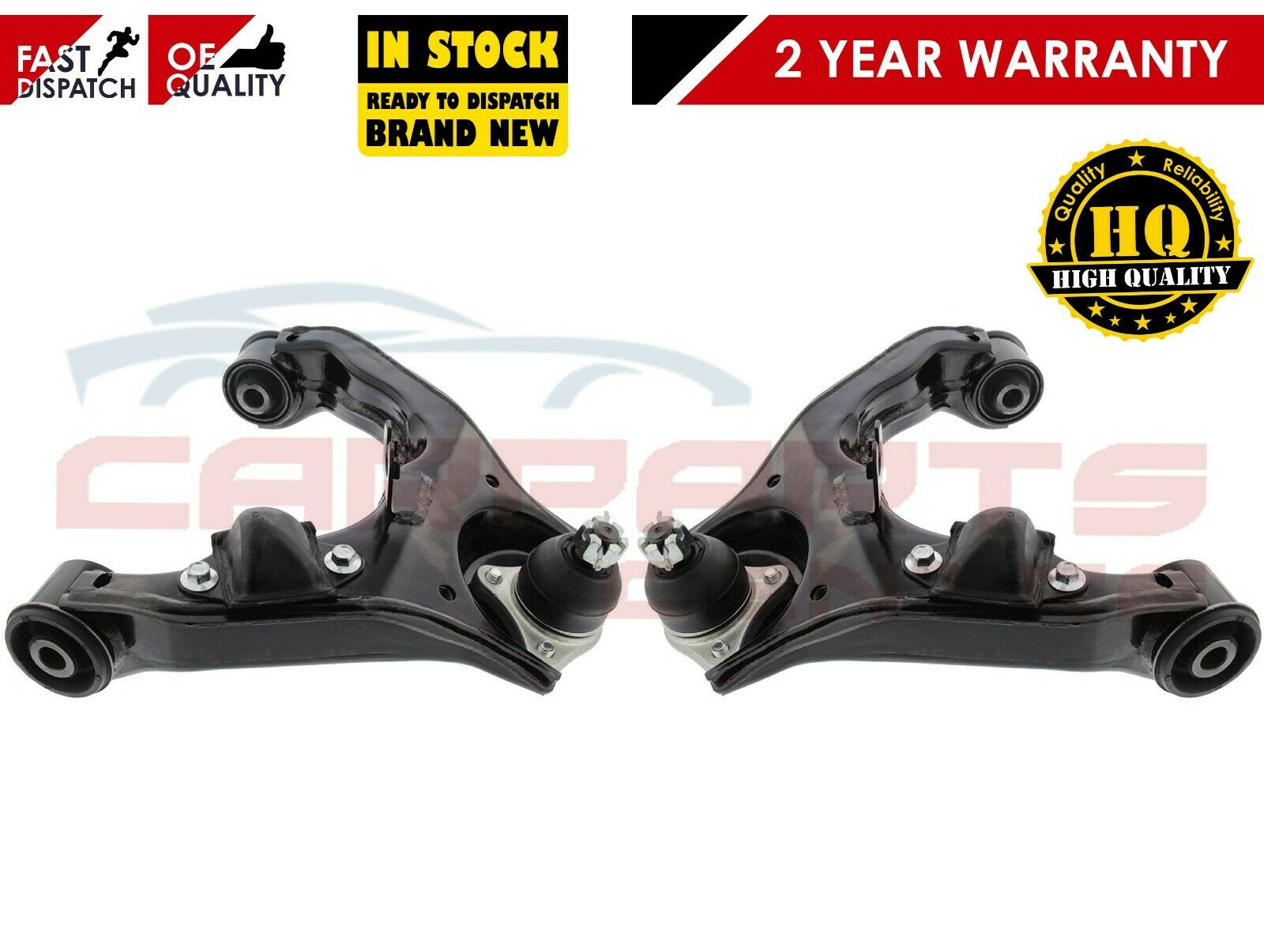 LAND ROVER DISCOVERY 3 NEW FRONT UPPER SUSPENSION WISHBONE CONTROL ARMS PAIR