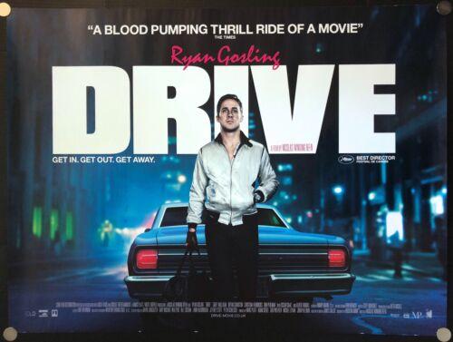 Drive 2011 Original Movie Poster British Quad Double Sided C8 Excellent Noir