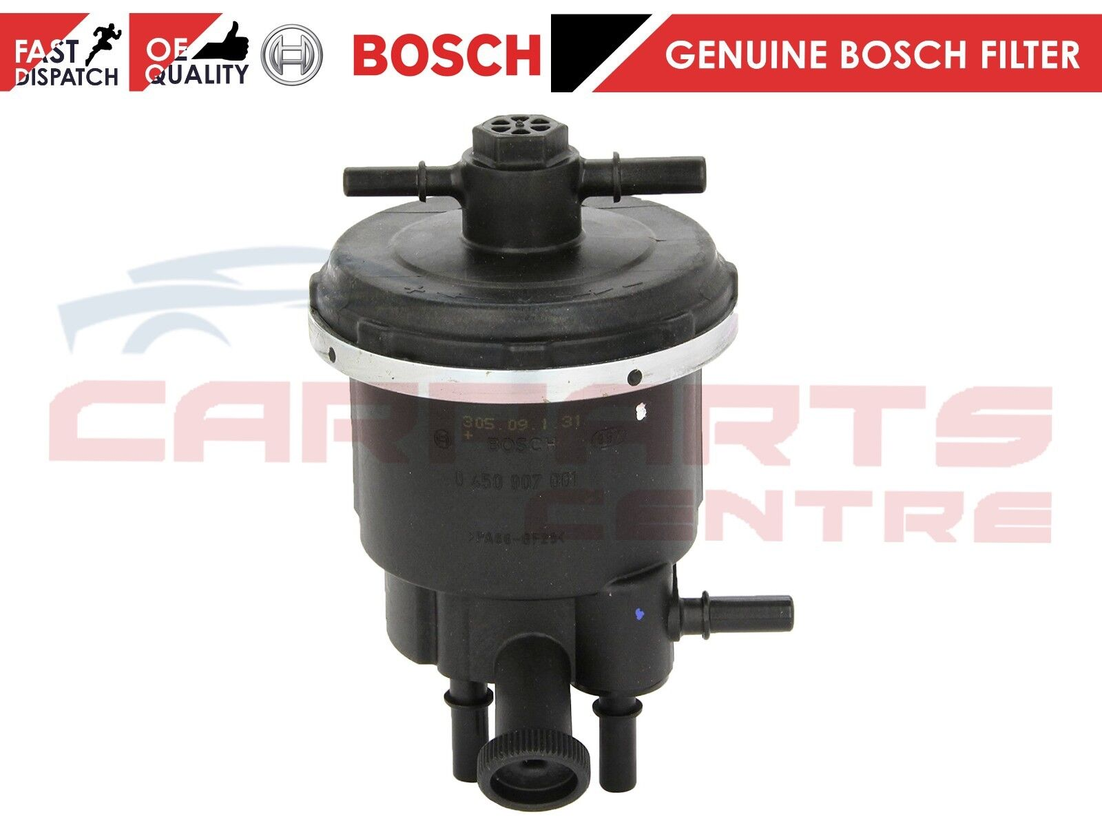 FOR FIAT SCUDO ULYSEE 2.0 JTD FUEL FILTER COMPLETE HOUSING & FUEL FILTER  BOSCH