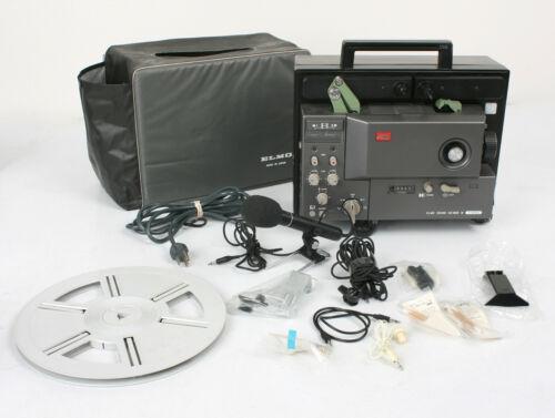 Vtg Elmo Sound GS-800M Super 8 Stereo Movie Projector Lot of ELMO EXTRAS - JAPAN