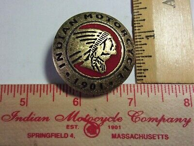 vintage Indian screw-back concho old biker collectible motorcycle accessory USA