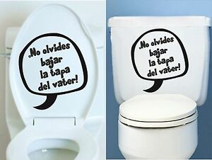 Vinilo adhesivo sticker decal vinyl aufkleber ba o no for Tapaderas de wc