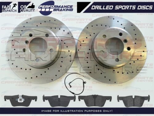 FOR BMW 2 3 4 SERIES X1 FRONT DRILLED PERFORMANCE BRAKE DISCS MINTEX PADS 312mm