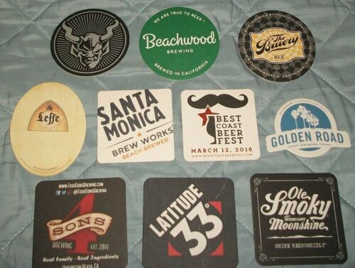 10 COASTERS CRAFT BEER VARIOUS BREWERIES BRAND NEW RARE BEER MATS CRAFT BEER