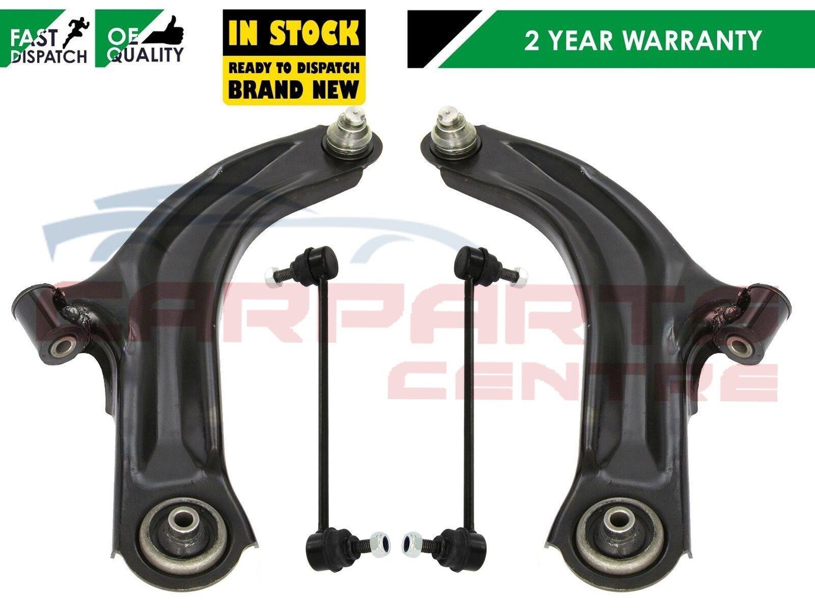 Renault Clio Mk3 2005/>2015 Front Track Suspension Wishbone Arm Pair Links