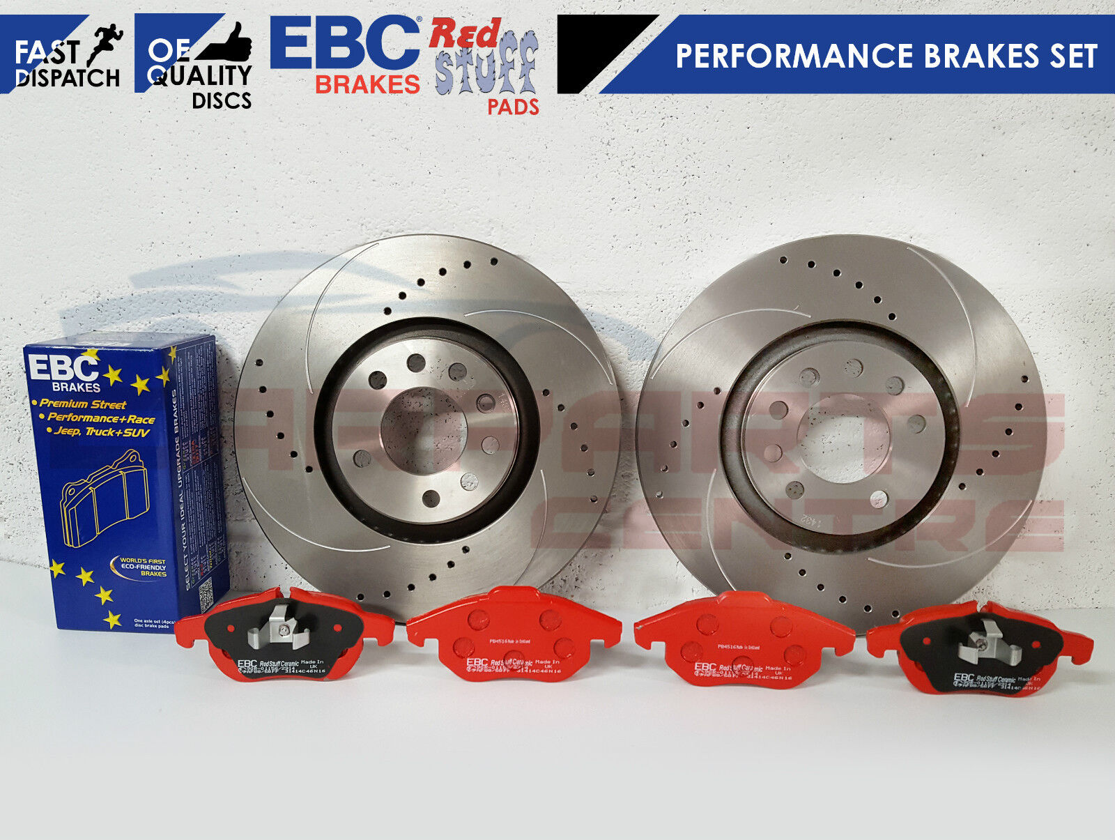 FOR VAUXHALL ASTRA VXR FRONT EBC PERFORMANCE RED STUFF BRAKE PADS UPGRADES