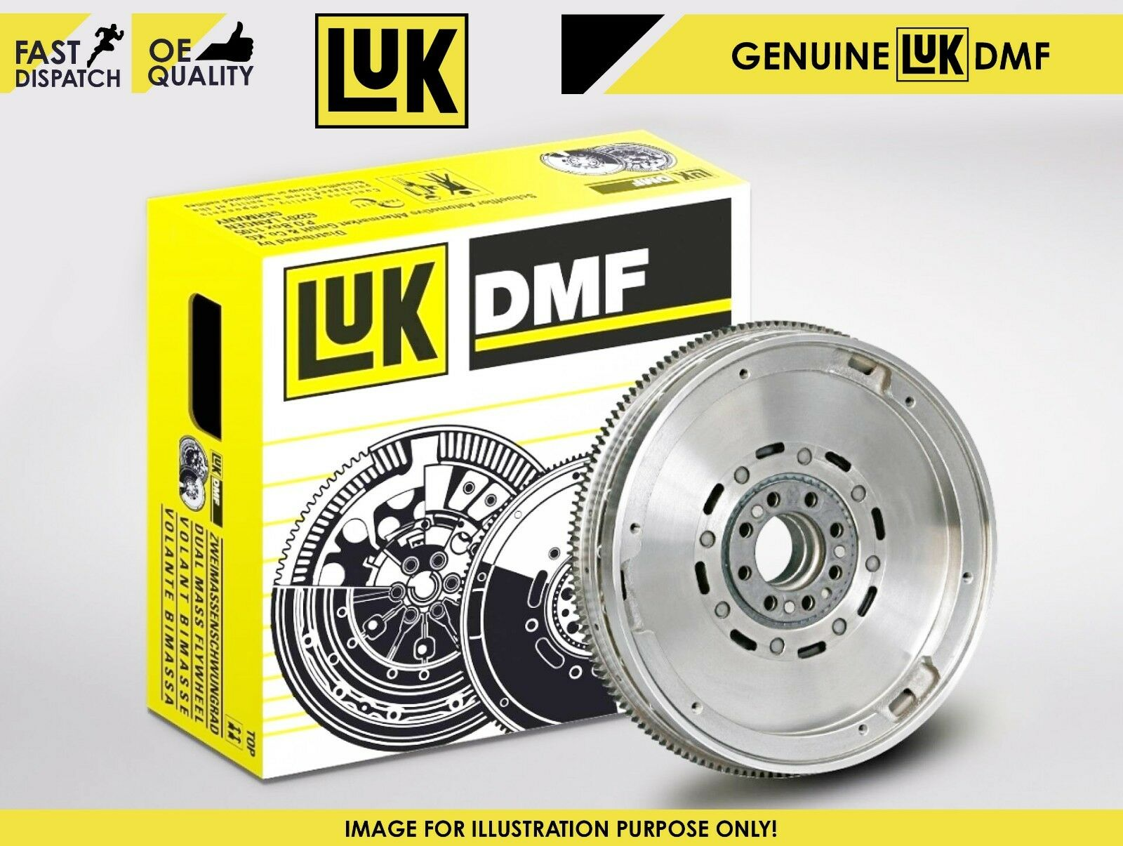 AUDI A6 4F 2.0D Dual Mass Flywheel DMF 04 to 11 LuK 03G105266AT 03G105266BH New