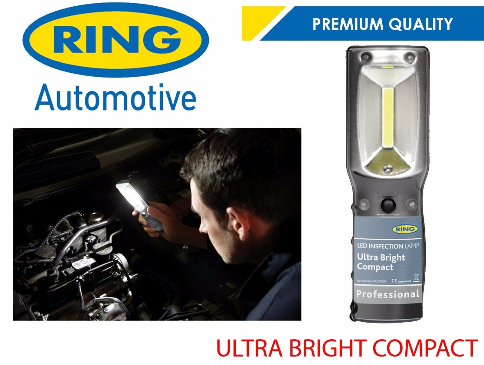 Ring Compact Heavy Duty Ultra Bright LED Inspection Lamp RIL2900
