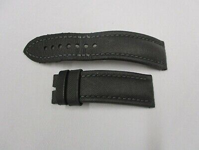 BLANCPAIN 23mm x 20mm Black Cloth on Leather Watch Strap Band Pair 115mm & 75mm