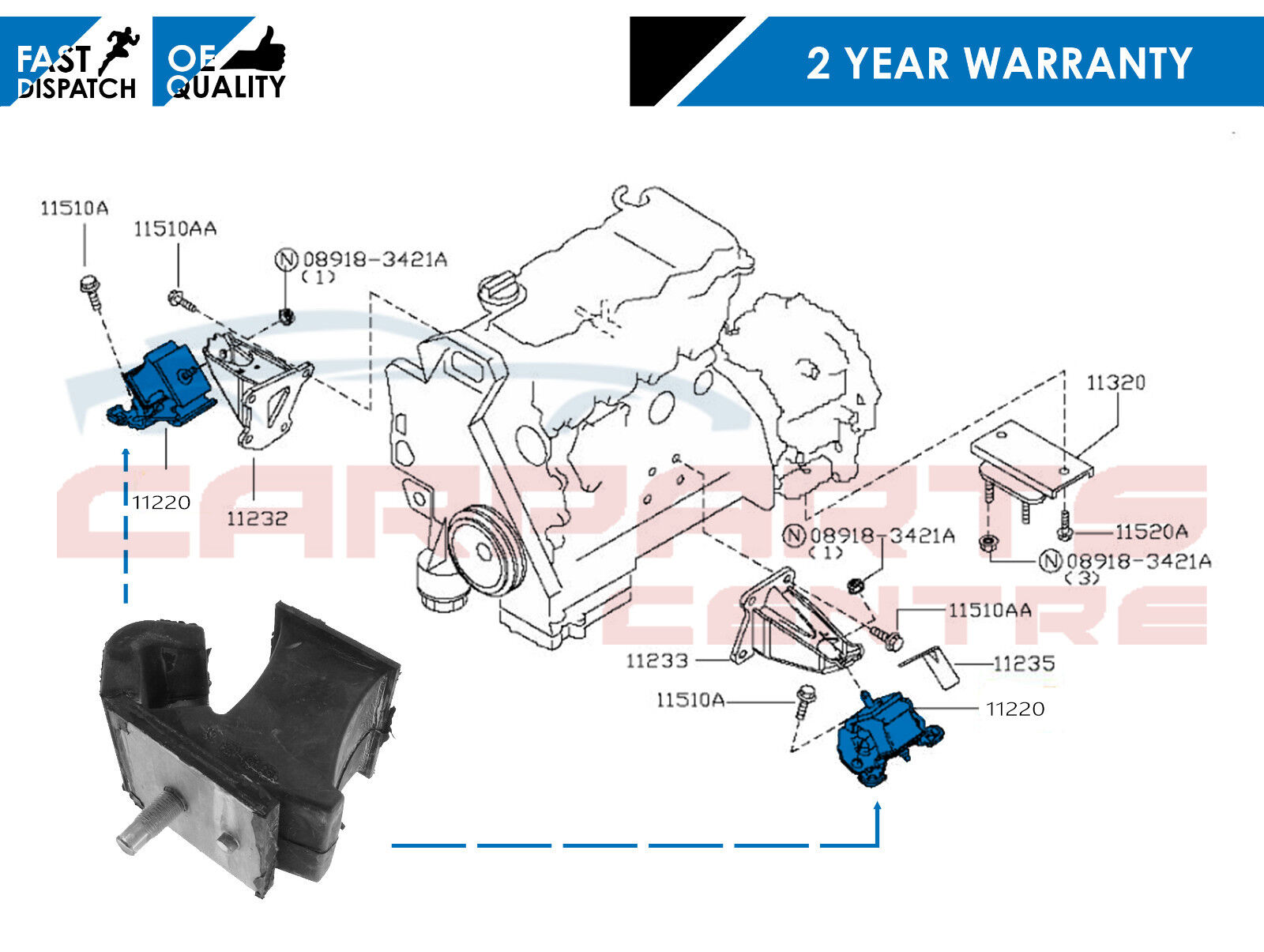 For Nissan Navara D40 Pathfinder 2 5 R51 Yd25ddti Front