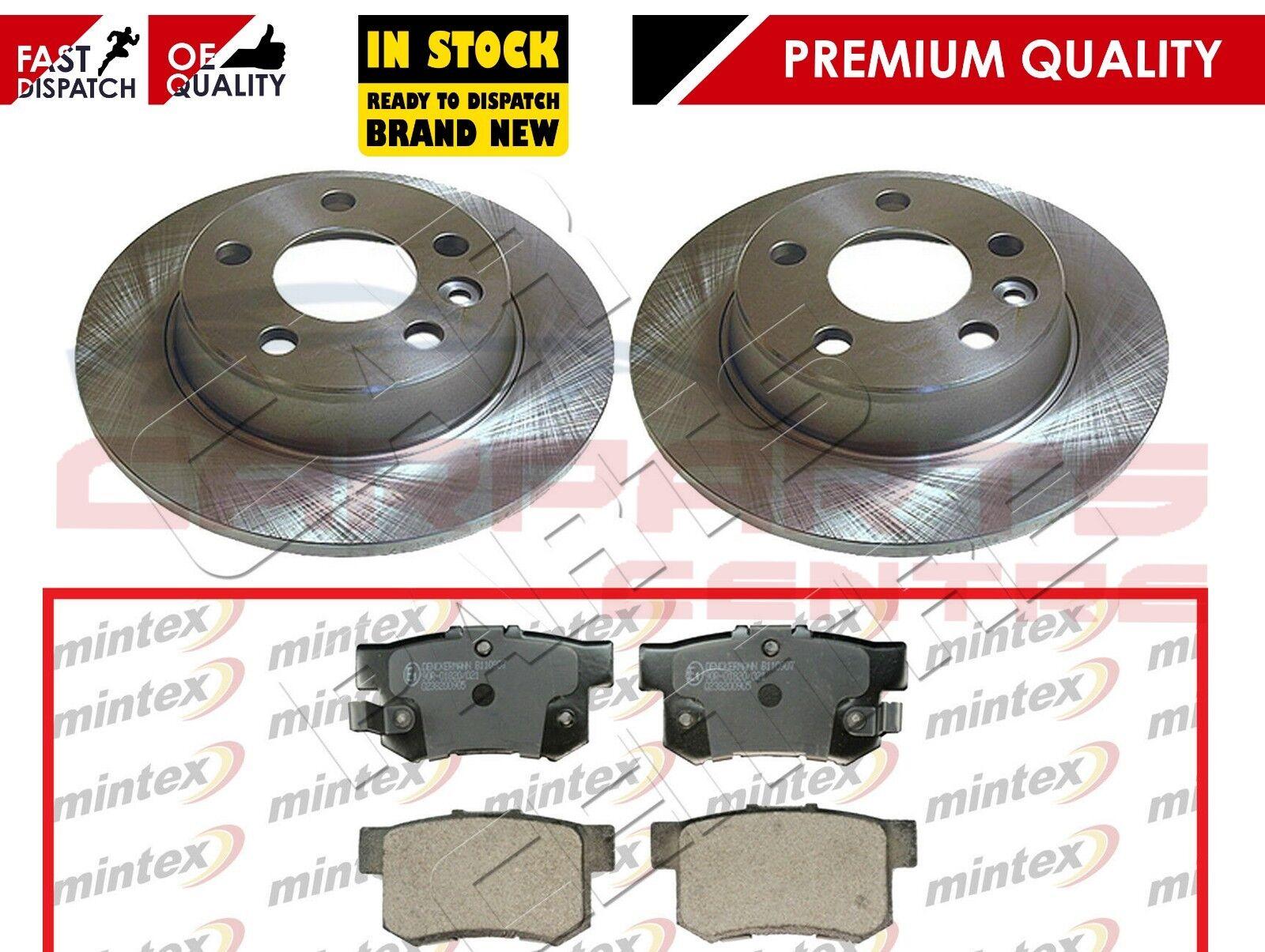 FOR PEUGEOT 206 2.0 GTi HDi FRONT /& REAR MINTEX BRAKE DISCS /& MINTEX BRAKE PADS