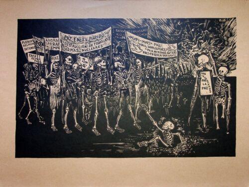 Norberto Onofrio - Peace: Défilé Of Skeletons - Photolithography - 1959
