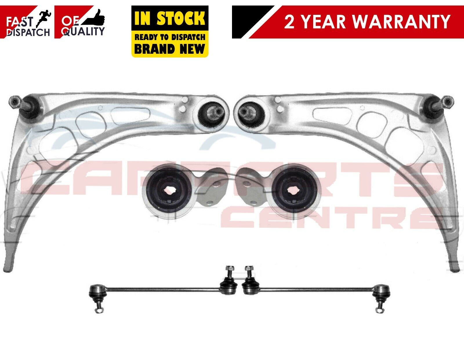 For BMW 3 E46 Front suspension arms wishbones bushes antiroll bar ...