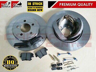 Fits Chrysler 300C Genuine Comline 5 Stud Rear Vented Brake Disc /& Pad Kit
