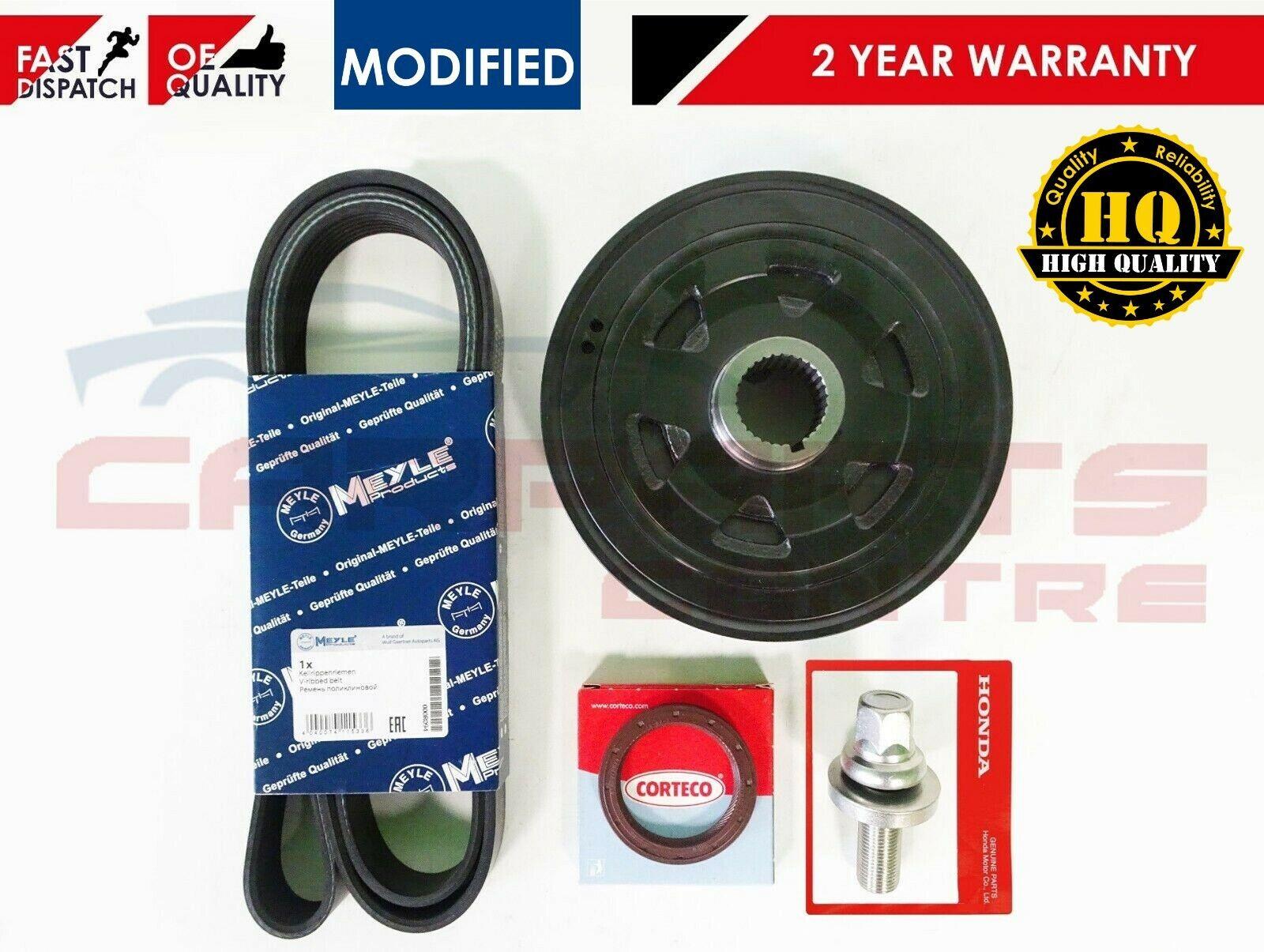 Honda Accord CRV FRV HRV 2.2 CDTI Crankshaft crank shaft damper Poulie Seal