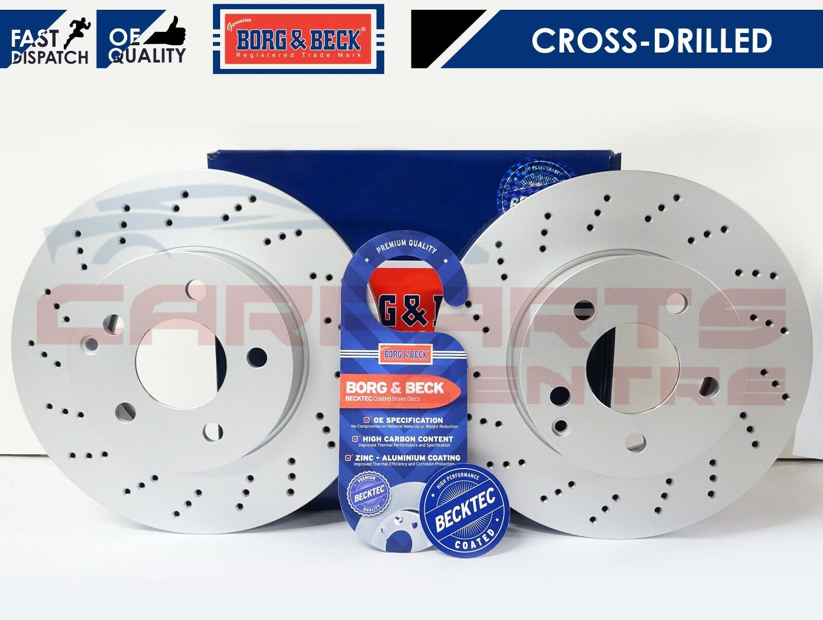 C-CLASS C230K Kompressor Front Drilled Grooved Discs and Pads