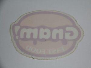 Vetrofania Gnam Fast Food Adesivo Vintage - Sticker - Autocollant - Decal - Italia - Vetrofania Gnam Fast Food Adesivo Vintage - Sticker - Autocollant - Decal - Italia