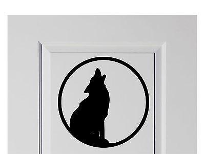 Howling Wolf Halloween Vinyl Decal Sticker Decor for Home