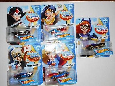 DC SuperHero Girls Hot Wheels Harley Quinn Supergirl Katana Batgirl Wonder Woman - Hot Superhero Girls