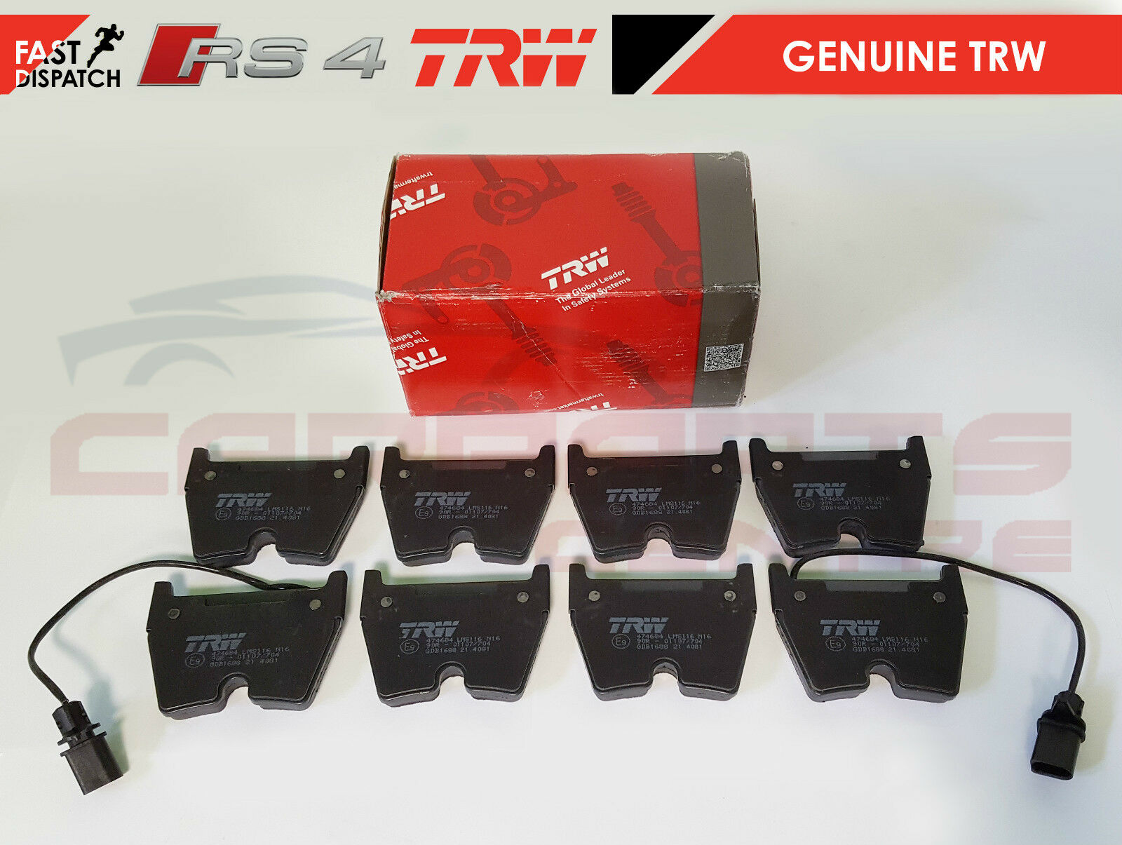 FOR AUDI B7 RS4 FRONT REAR PREMIUM QUALITY PD BRAKE PADS SET 2004-2008 BRAND NEW