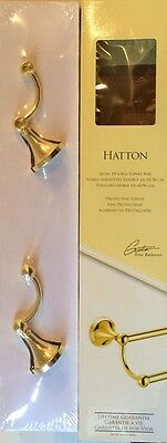 Gatco Hatton Polished Brass 24-inch Wall-Mount Double Towel Bar - Model 4774 NEW