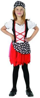 Piratenmädchen Kostüm schwarz-weiss-rot Cod.226040 (Cod Kostüm)