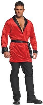 Underwraps Smoking Jacket Robe Evening Velvet Adult Mens Halloween Costume 28943