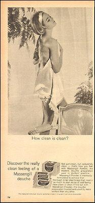 1966 Vintage ad for Massengill Douche`Sexy Model Photo   (021417)