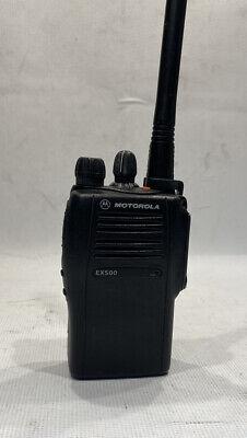 Motorola Ex500 Vhf Radio 136-174 Mhz 5w Two Way With Battery