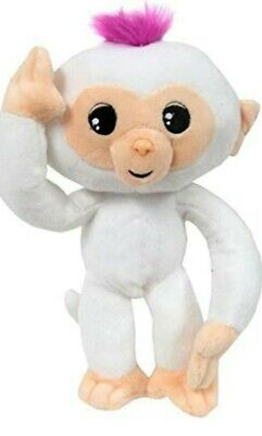 "Fingerlings Baby Monkey 10"" White Poseable Plush With Sound NWT FREESHIPPING NEW"