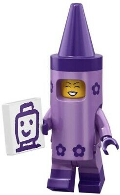 LEGO® MOVIE SERIES 2 CRAYON GIRL 71023 # 5 MINIFIGURES NEW PACK PURPLE COSTUME