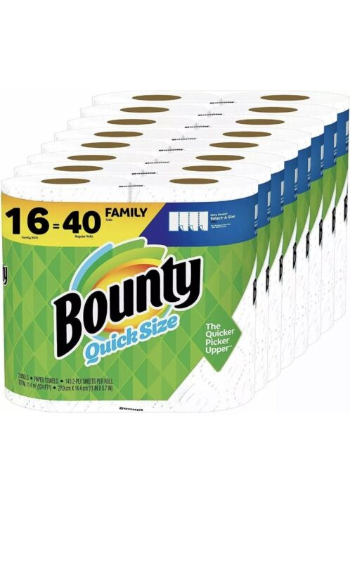Bounty Select-A-Size Paper Towels, White (16 Rolls =40)