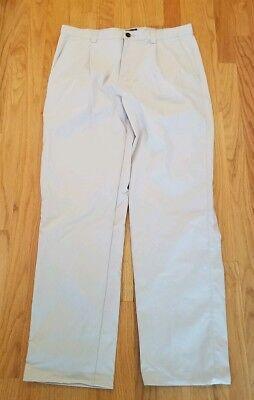 Reliable Zanella Mens Dress Pants 34x30.5 Austin Pleated Black Wool Blend Pants