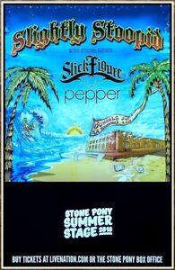 SLIGHTLY STOOPID Schools Out Summer 2018 Ltd Ed Tour Poster! STICK FIGURE PEPPER