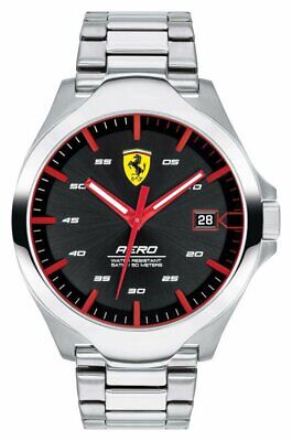 Scuderia Ferrari Men's Aero Water Resistant Stainless Steel Bracelet Watch