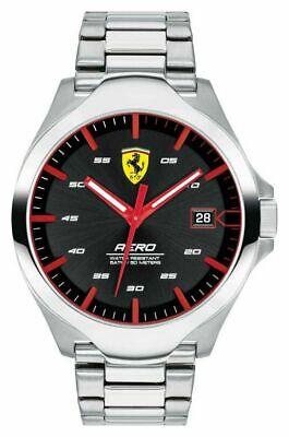 Scuderia Ferrari Men's Aero Water Resistant Stainless Steel Bracelet Watch. 646
