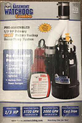 New Basement Watchdog Combo Primary And Backup Sump Pump 13hp Cite-33