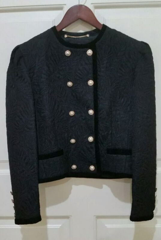 Louis Feraud Vintage Black Military Style Jacket Made in Western Germany