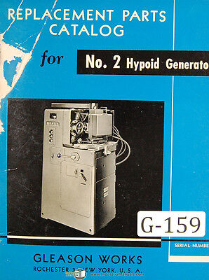 Gleason 2 Hypoid Generator Clad Parts List Manual