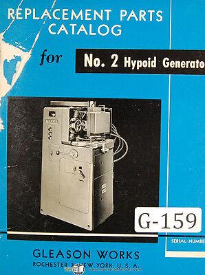 Gleason 2 Hypoid Generator Clad Parts List Manual