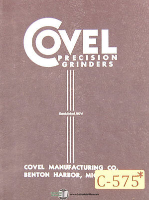 Covel 17h Grinder Instructions And Parts Manual