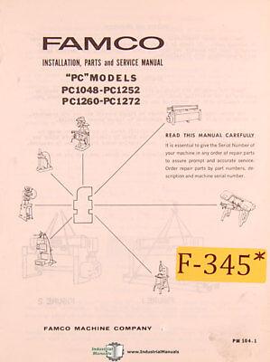 Famco Pc 1048 Shear Install Parts And Service Manual