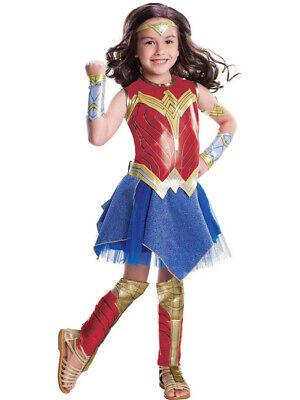 Wonder Woman Deluxe Costume Child Girls Red Dress Rubies Size Medium 8-10