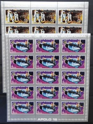 Guinea Ecuatorial 1972 SPACE Rocket MNH Set x 15(105 Stamps)(Gu20)