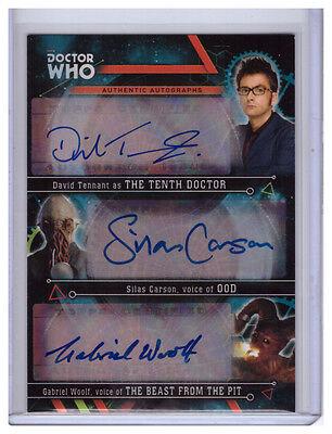 Doctor Who Extraterrestrial DAVID TENNANT/SILAS CARSON/GABRIEL WOOLF Auto 3/3