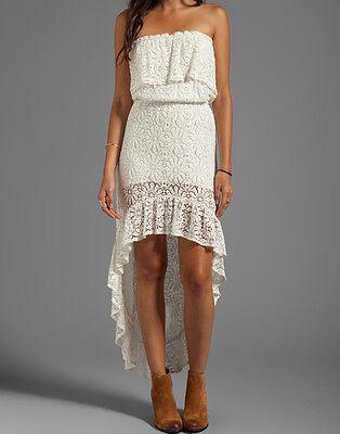 Jens Jens Pirate Booty White Lace Hi Low Dress Xs S