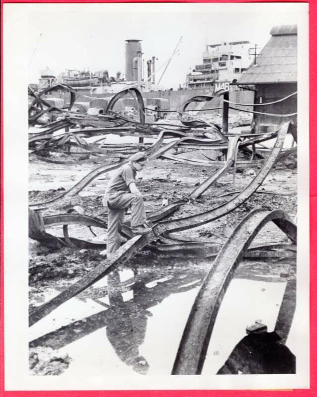 1945 Ruins of Port of Singapore After Japanese Surrender Original News Photo