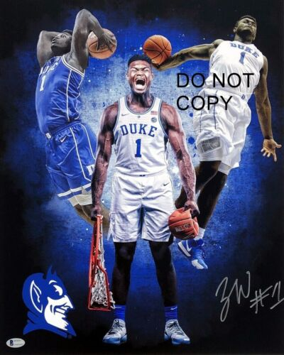 Zion Williamson Signed 8x10 Autographed REPRINT PHOTO Duke Blue Devils RP